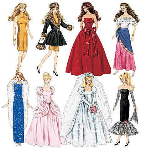 Fashion Doll Clothes: Barbie Doll Ideas, Barbie Clothes, Doll Clothes Patterns, Clothing Patterns, Barbie Patterns, Patternpalooza Dolls, Fashion Dolls, Barbie Dolls, Crafts Dolls Pets