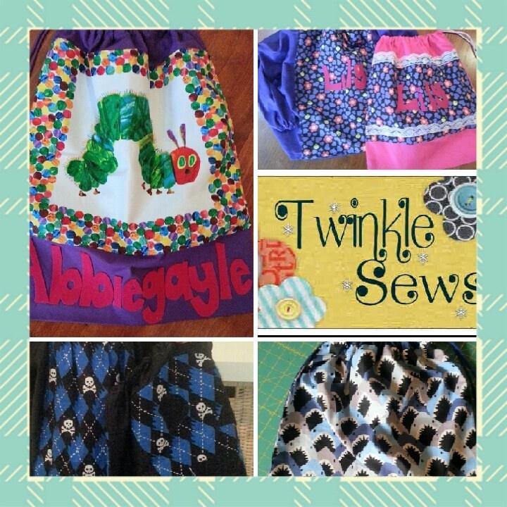 Custom made art smocks & library bags :)