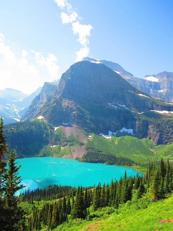 Glacier Park, Montana. Been there and would love to go back now that I'm older.