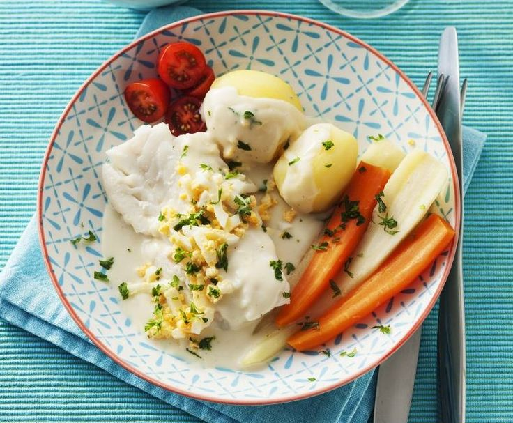Kokt torsk med äggsås - recept 1
