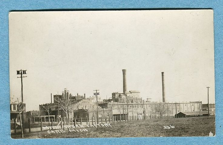 X2177 Real photo postcard, Michigan Sugar Factory, Caro MI, #336, USED 1929