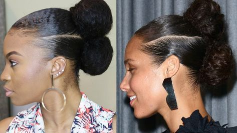 Alicia Keys Inspired Natural Hair Updo [Video] - https://blackhairinformation.com/video-gallery/alicia-keys-inspired-natural-hair-updo-video/