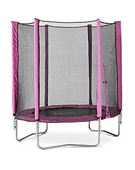 Plum 6ft Pink Trampoline & Enclosure