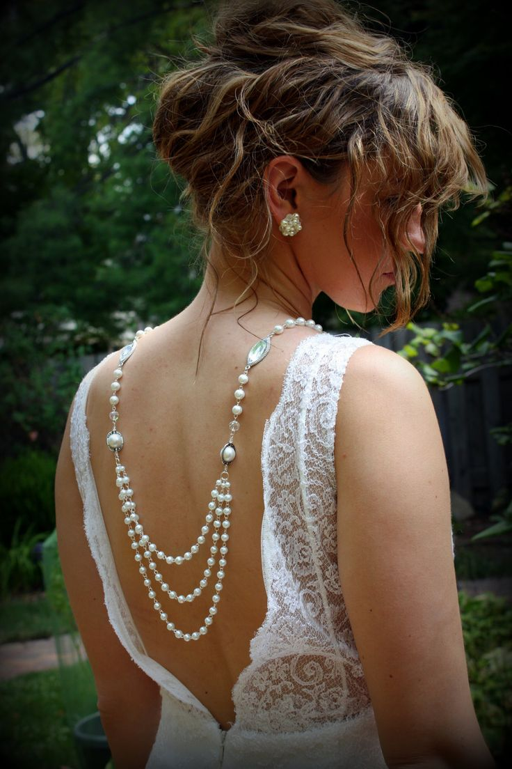 Backdrop Necklace-Pearl Necklace