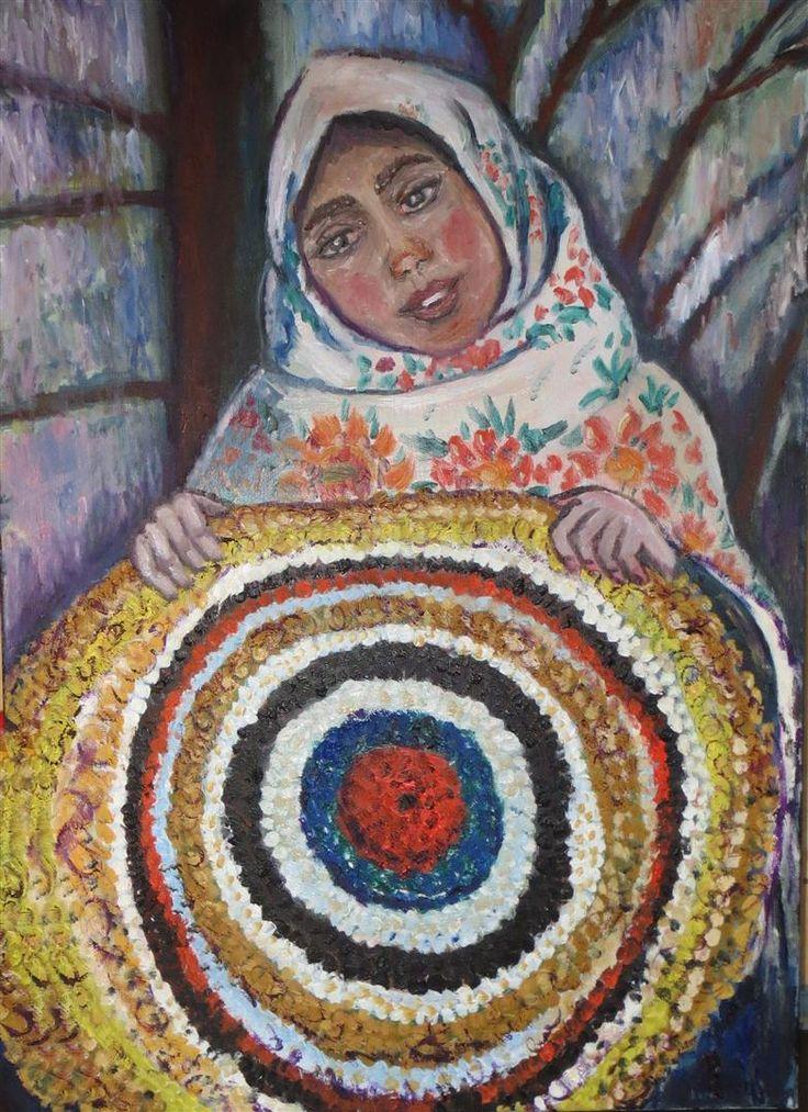 ''Podlaski chodnik'' obraz olejny 60x80 artist  Marko Sapiołko