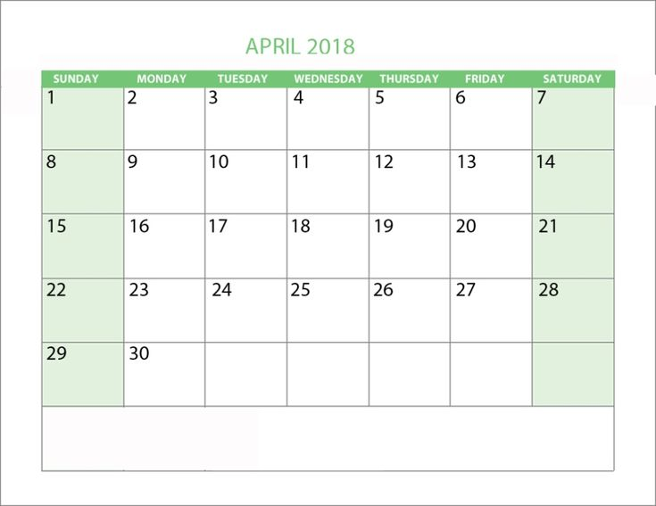 April 2018 Calendar with Holidays     https://sourcecalendar.com/april-2018-calendar