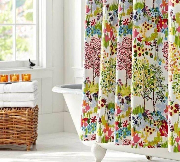 Bathroom , Modern Shower Curtain For Bathroom : Modern Shower Curtain Colorful