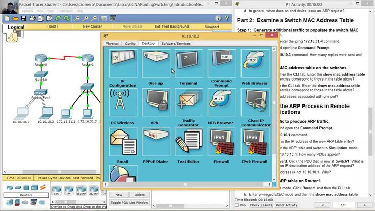 5.3.2.8 Packet Tracer