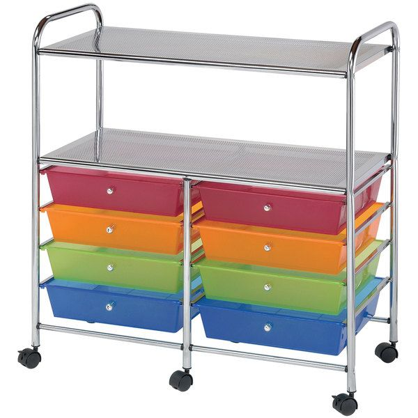 Craft Storage Organizer Cart Table Rolling Wheeled Drawers