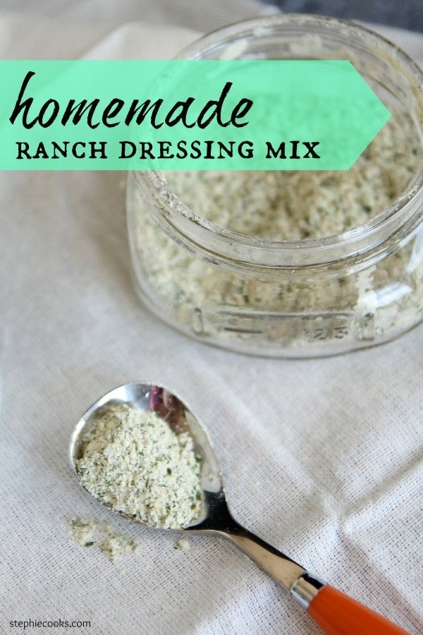 Forget those salt-laden envelopes. Homemade Ranch Dressing Mix is a snap to make and tastes so much better and saves you money. You know exactly what's in the mix, too. Use it just like you would the mix in dressings and recipes.