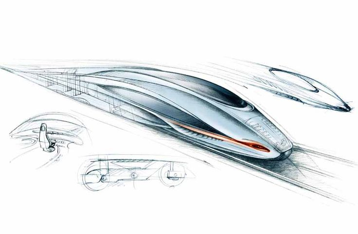 illustration concept car train futuriste Florence Gendre #illustration #design #train