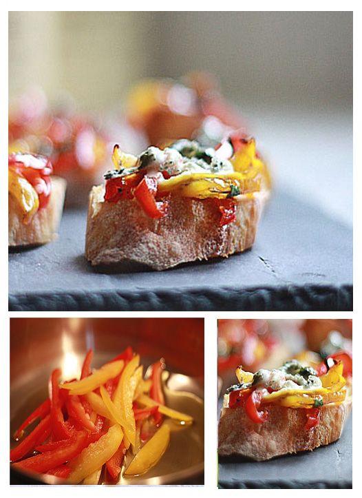 Red pepper bruchetta