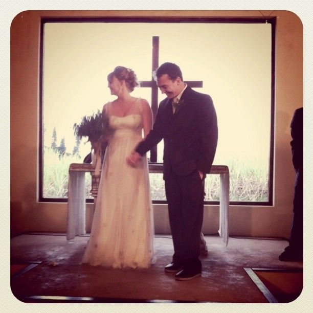 Kelly's organic #EcoBride gown