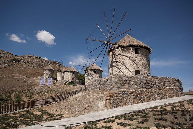 Windmills, Limnos, Aegean Sea, Greece by Sotiris Michalelis