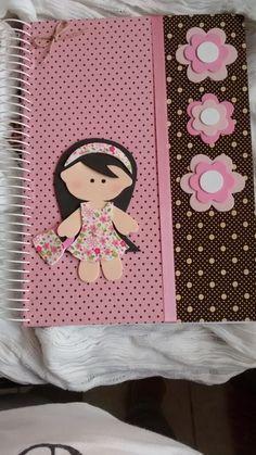 caderno decorado personalizado menina