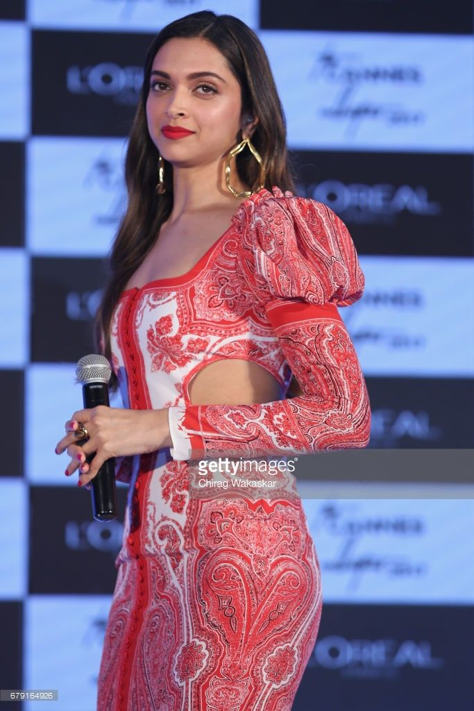 Deepika Padukone unviels L'Oreal Paris' 'The Cannes Collection 2017' at Taj Land's End on May 5, 2017 in Mumbai, India.