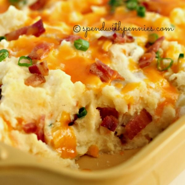 With this twice baked potato casserole you will take a dinner time staple into a family favorite side! Twice Baked Potato Casserole is a perfect side!