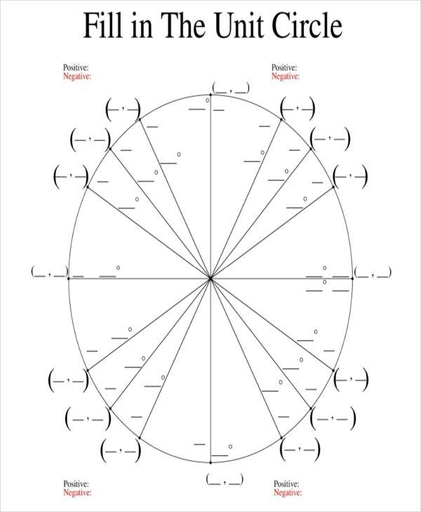 Best 3 Blank Unit Circle Printable Template Trigonometry