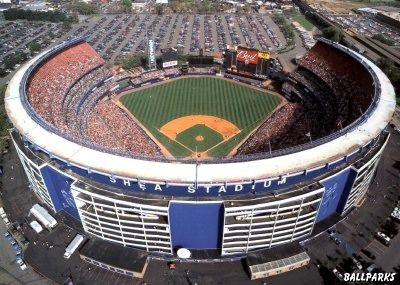 Shea Stadium -- my first foray outside Manhattan. The fans booed a little leaguer who dropped a foul ball.