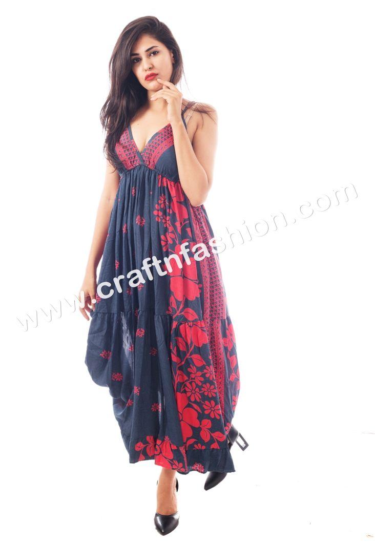 be166d06610 Indian Ethnic Hippie Boho poly-Silk Crepe Long Maxi Dress - Australian  Style Long Poly- Silk Printed Maxi Dress-Beach Wear Fashionable Dress