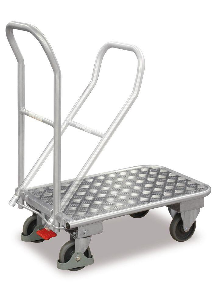 GTARDO.DE:  Aluminium-Klappwagen, Tragkraft 150 kg, Ladefläche 900 x 600 mm, Maße 1000 x 620 x 975 mm, Rad 160 mm 225,00 €