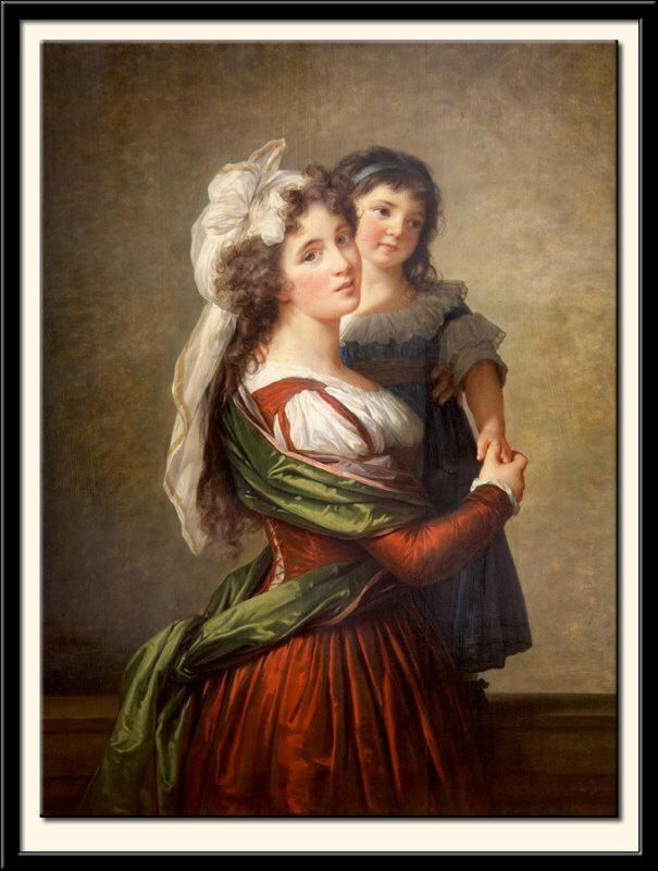 Madame Rousseau and her Daughter by Elisabeth Louise Vigee-LeBrun