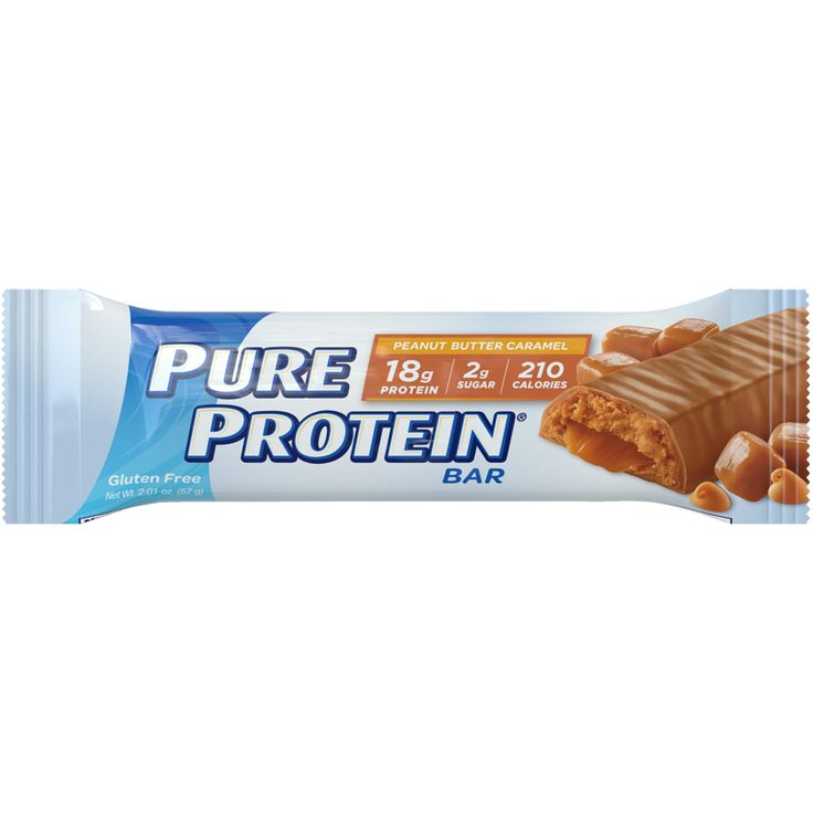 BUY AGAIN! Pure Protein Peanut Butter Caramel high protein bar