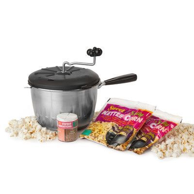 Wabash Valley Farms 4 Piece Kettle Corn Snack Pack Featuring the Sweet and Easy Snack Machine Set