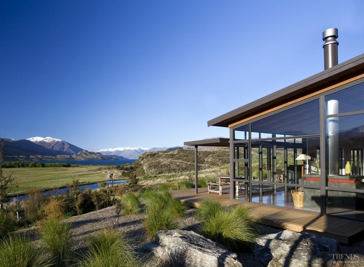 This house by Scott Architects has separate pavillions