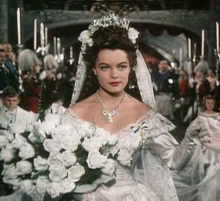 Romy Schneider as Sissi (1, 1955) the Wedding