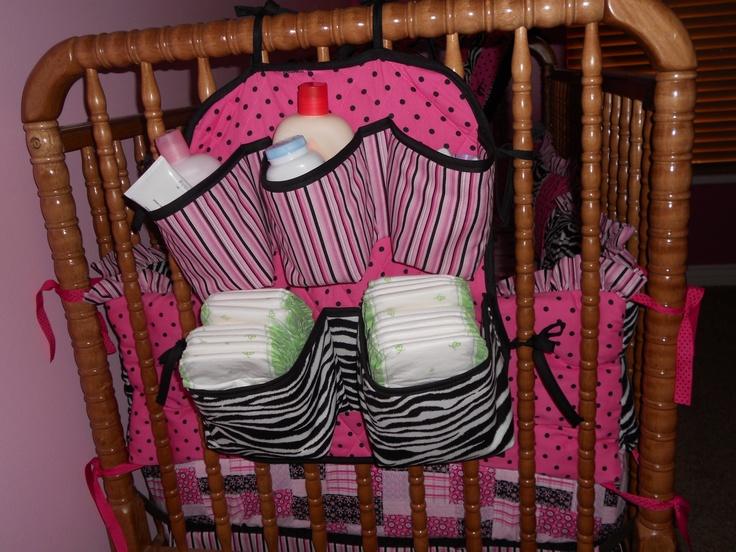 zebra diaper holder