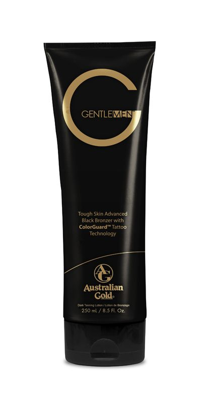 Australian Gold G Gentlemen Tough Skin Advanced Black Bronzer - Intensificatore con DHA super idratante grazie all'Acqua di Cocco contenuta in una profumatissima lozione dedicata all'Uomo. Abbronzatura Top! Tan, Tanning