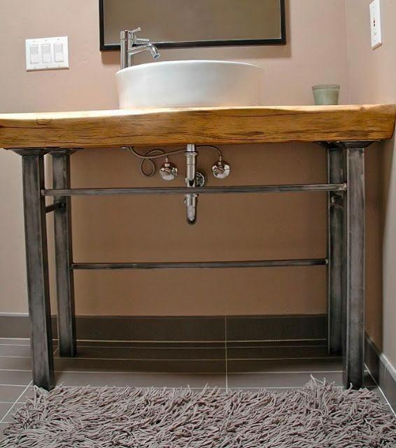 Bathroom Vanity With Metal Legs - Home Ideas # ...