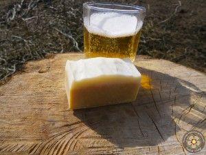 Sörrel készült szappan kurkumával, citrom illattal - a fényes, egészséges hajért