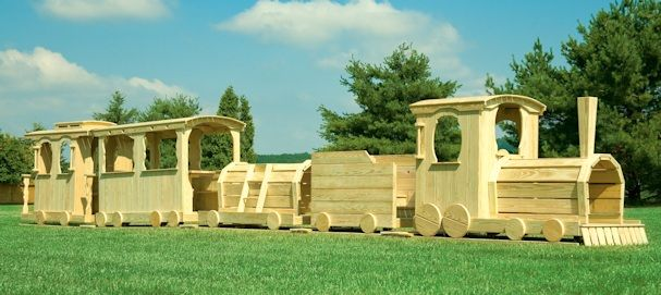 Wooden Train Playset More Reasonably Priced But