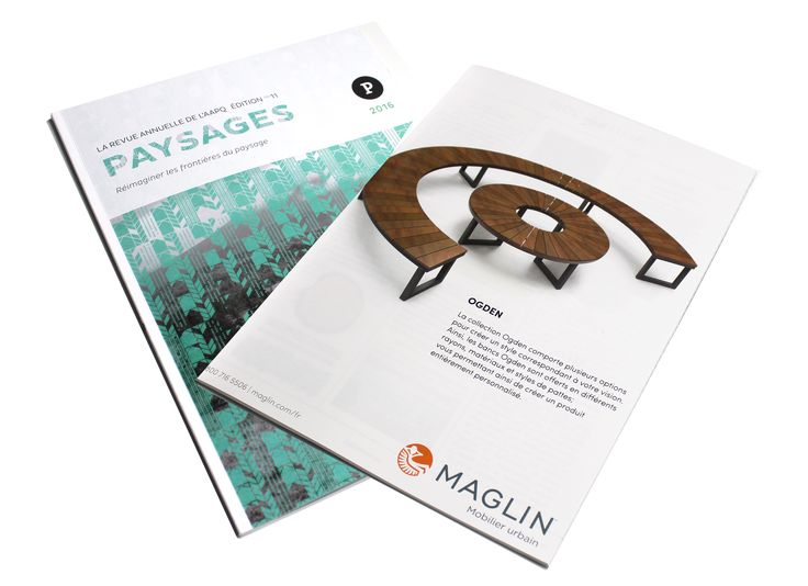 Maglin's full page ad was in the La Revue Annuelle De L'AAPQ Paysages 2016 magazine!