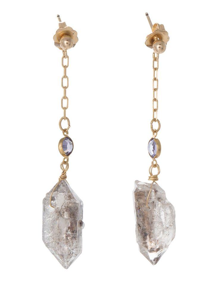 The Vega Diamond Chain Earrings | accessories | Pinterest ...