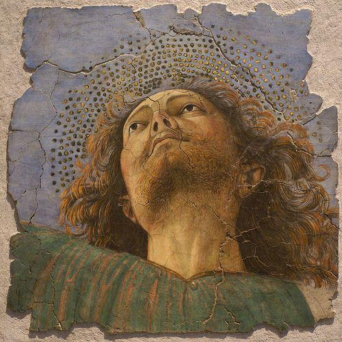 Vatikanische Museen, Pinakothek, Apostelkopf, Fresko von Melozzo da Forli (Head of an Apostle, fresco by Melozzo da Forli)  #TuscanyAgriturismoGiratola