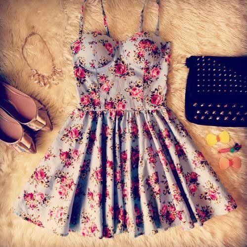 Cute floral mini dress