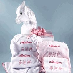 55 best baby girl gift baskets images on pinterest baby girl this beautiful wooden rocking horse keepsake baby gift makes a simply stunningbaby shower gift it contains several embroidered and personalized layette negle Image collections