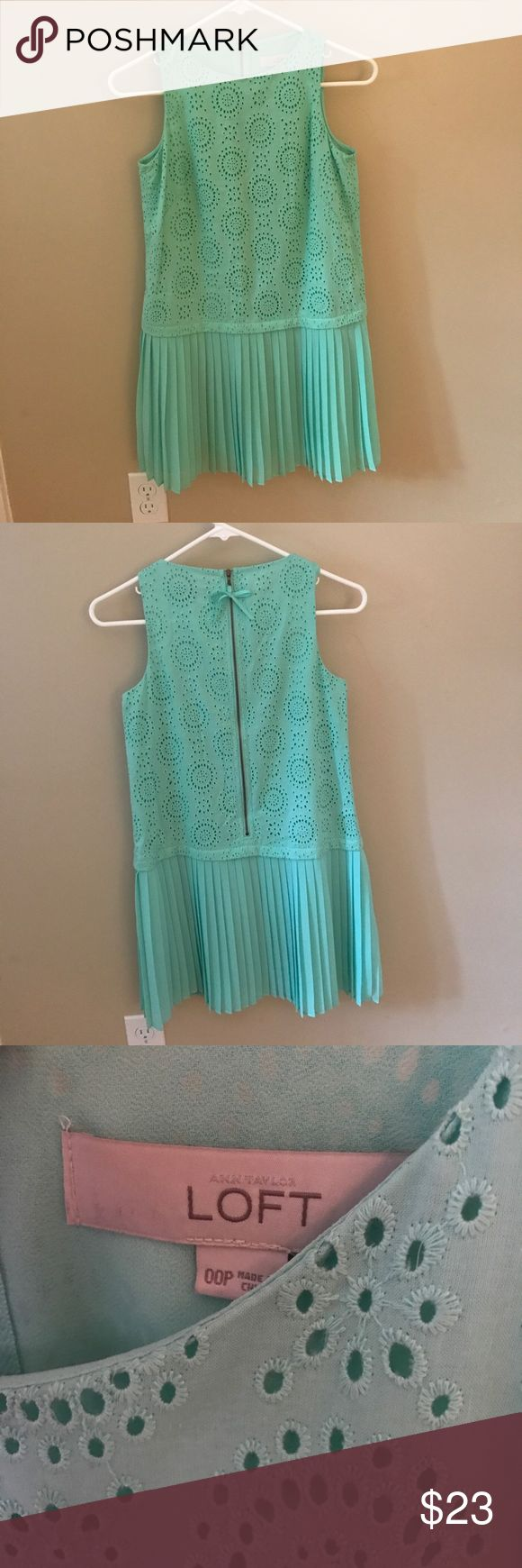 LOFT dress cute turquoise LOFT dress in perfect condition- only worn once! LOFT Dresses Mini