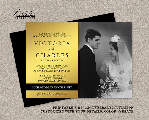 Golden Wedding Anniversary Invitations: Best 25+ Wedding Anniversary Cards Ideas On Pinterest