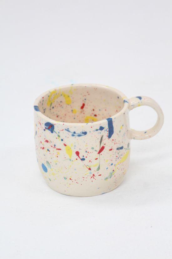 Levi Rainbow Splatter Mug