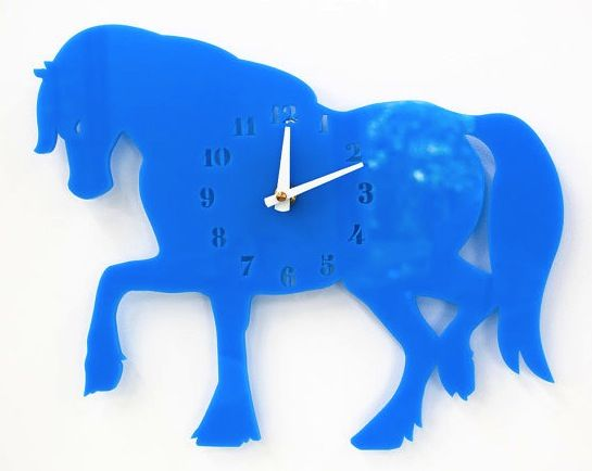 Acrylic Horse Wall Clock at the Little Crown Interiors Boutique
