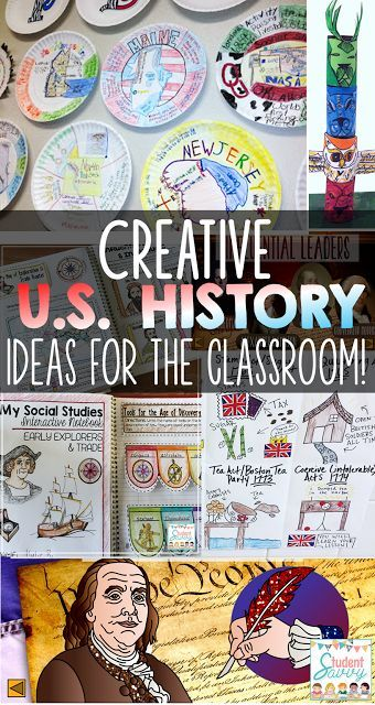 Creative U.S. History Ideas for the Classroom