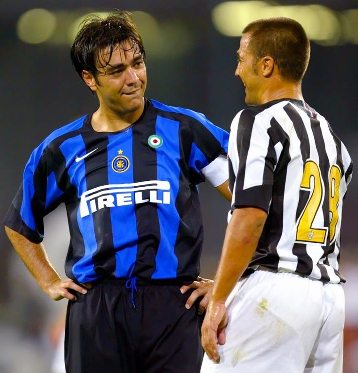 Fabio Cannavaro & Alvaro Recoba - Inter Milan v Juventus