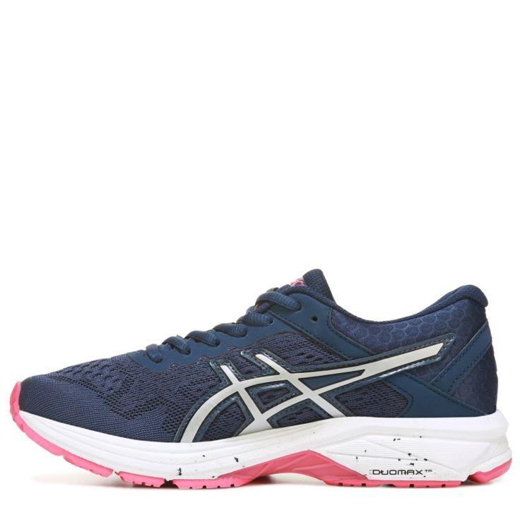 ASICS Women's GT 1000 2 Running Shoes (Navy / Silver / Pink)