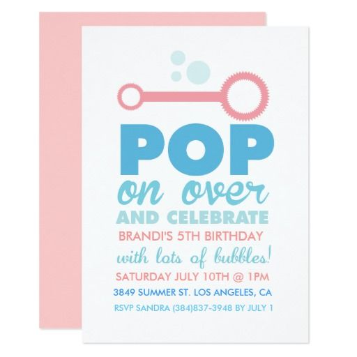 424 best bubble birthday party invitations images on pinterest 2nd girl bubble party themed birthday invite stopboris Image collections