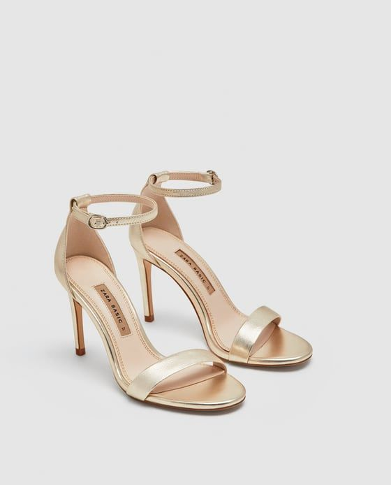 c7046e06a7b Image 4 of LEATHER HIGH HEEL SANDALS from Zara