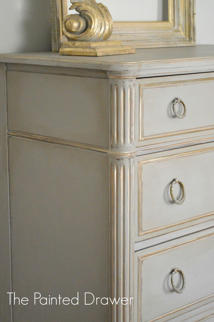close up of French Linen with gold accents http://www.thepainteddrawer.com